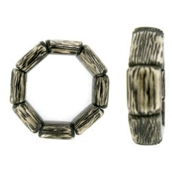 armband met hout in kunsthars